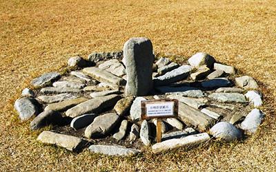 大湯環状列石の日時計型組石