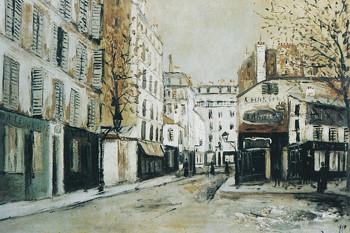モーリス・ユトリロ「バイアン通り、パリ」1915年頃