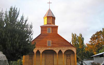 チリの世界遺産「チロエの教会群」のイチュアク教会
