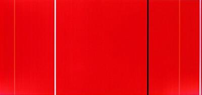 バーネット・ニューマン「崇高にして英雄的なる人」1950-51年、ニューヨーク近代美術館