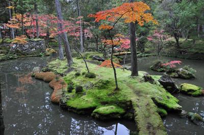 夢窓疎石作庭の西芳寺(苔寺)の庭園