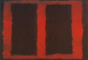 マーク・ロスコ「『壁画 No.4』のためのスケッチ」1958年、DIC川村記念美術館