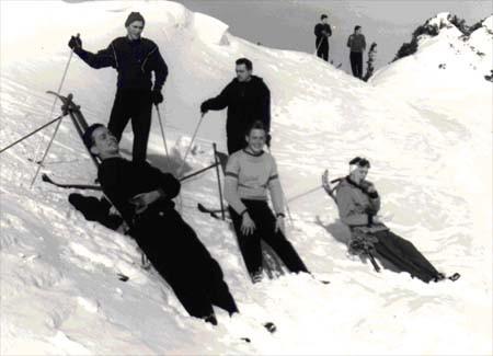 Skiausfahrt Hochleiten/Oberstdorf 1956