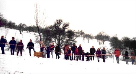 Schlauchrennen am Skihang in den 90iger Jahren