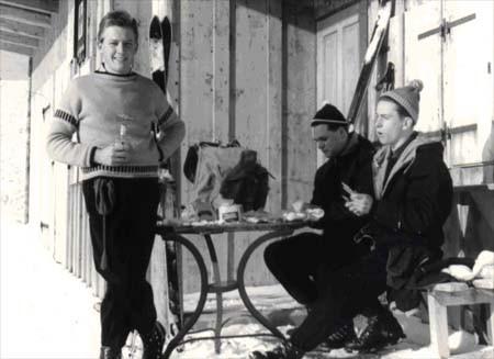 Winterausfahrt nach Zöblen Neujahr 1958  (Ewald Strohmaier, Günther Strohmaier, Martin Gruber)