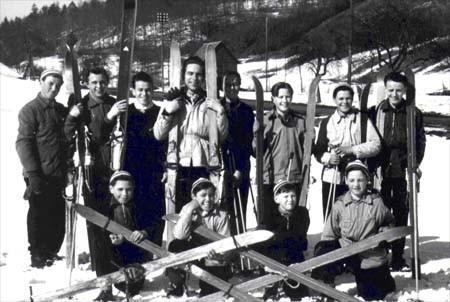 Die Gründer des Skiclubs 1954 in Spiegelberg