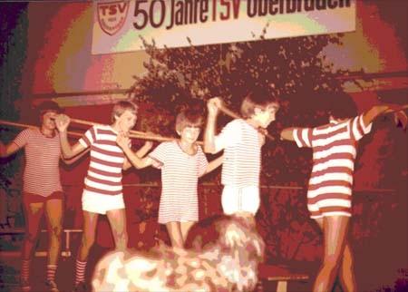 Vorführung des Skiclubs anlässlich der 50ig Jahrfeier des TSV Oberbrüden 1979