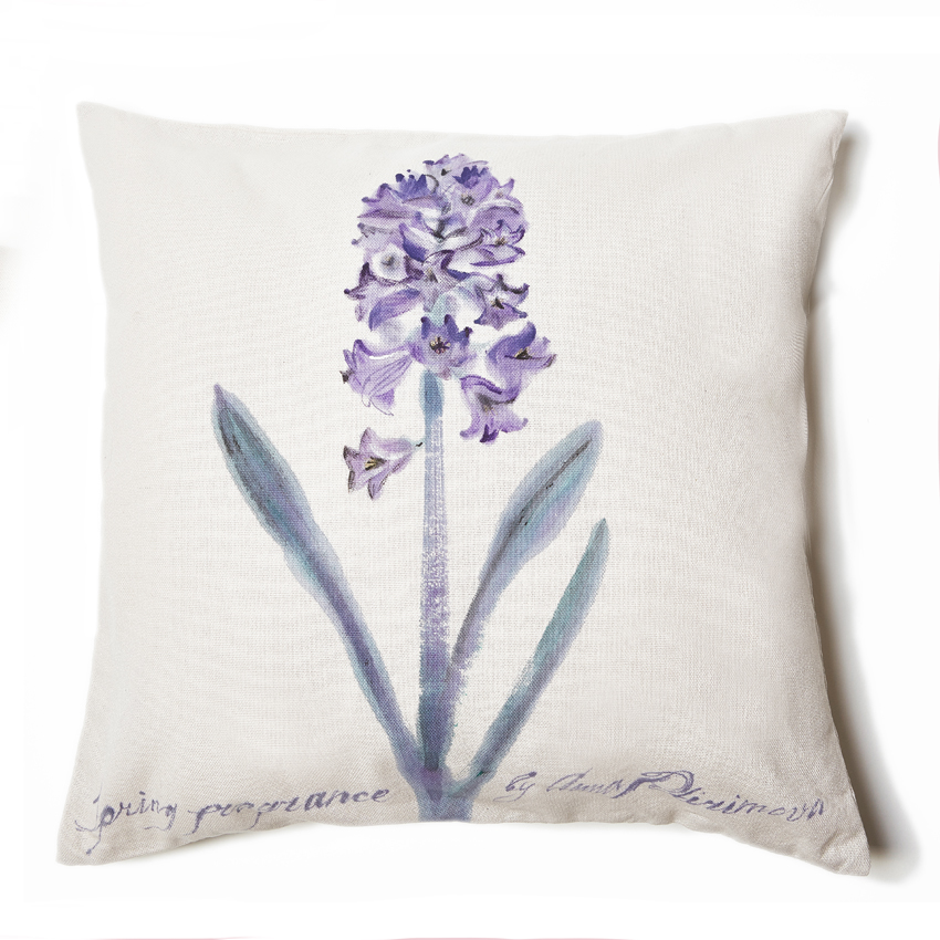 Hyacinth. Provence collection. 50×50cm. Cotton 85%, PA 15%. Avaliable in different sizes and colors