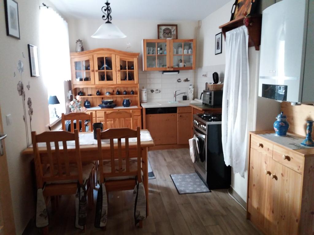Küche, mit allem ausgestattet.