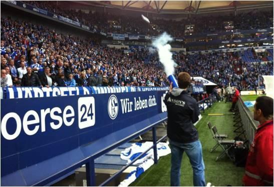 ZECCO T-Shirt Kanone bei Schalke 04