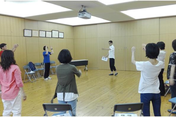 体操・ストレッチ・ツボ押し指導(京都市の中学校)