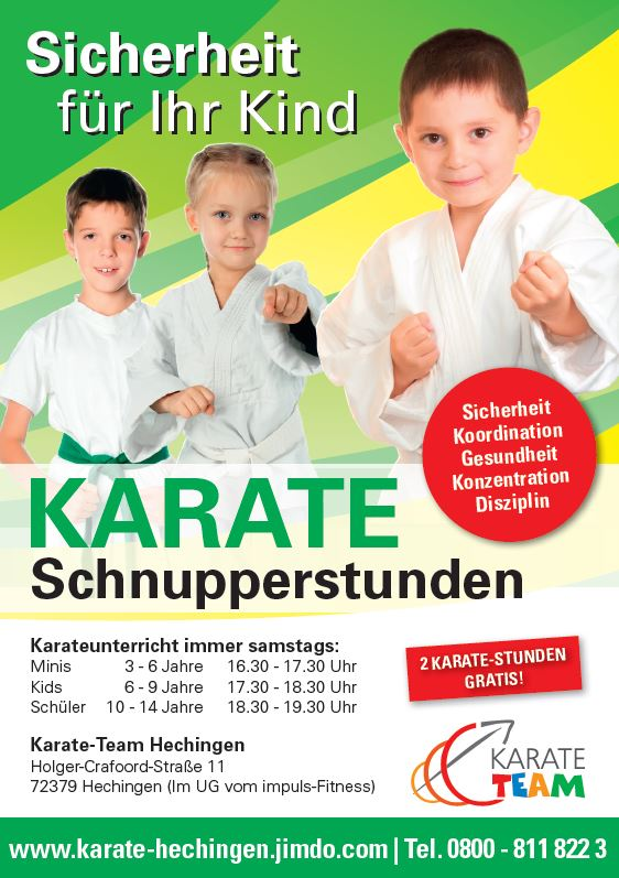 Selbstverteidigung Kinderkarate Hechingen