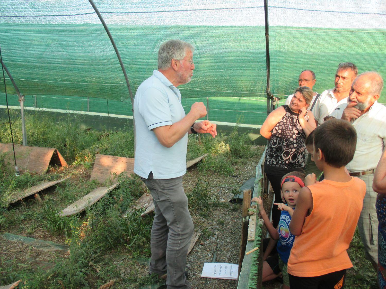 Visite de la ferme aux escargots, Lannecaube