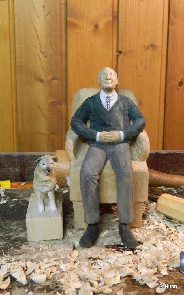 Portrait Figur mit Hund