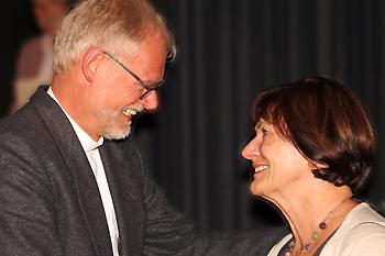 Pfarrer List gratuliert Frau Palmtag