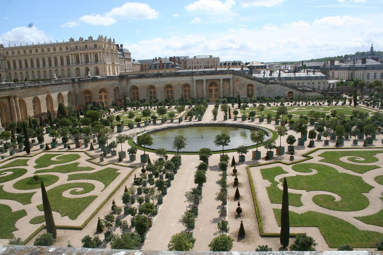 Les jardins de Versailles vu de haut