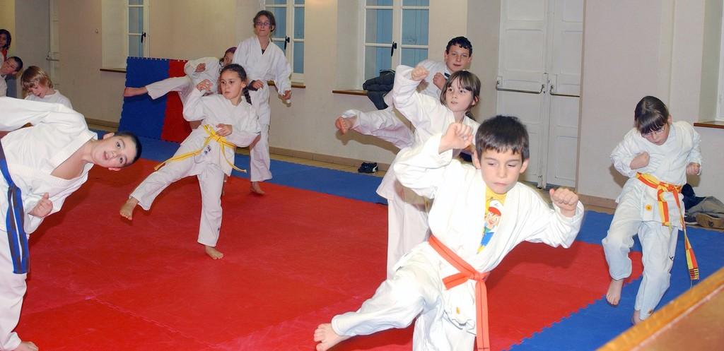 entrainement du groupe des enfants à Voulangis