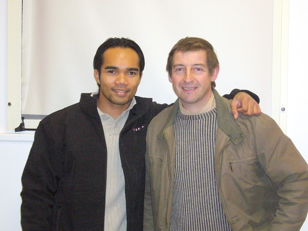 Minh et Laurent le secrétaire du CKS