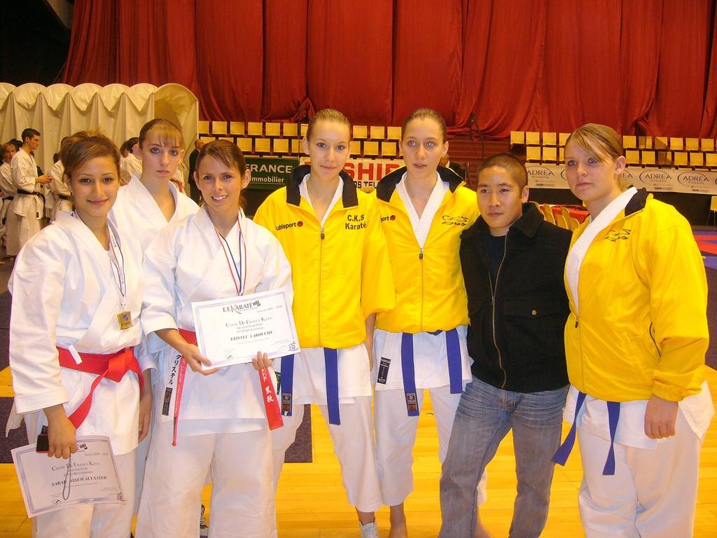 les filles du CKS,krystel, nathi et sarah vainqueur de la coupe de France