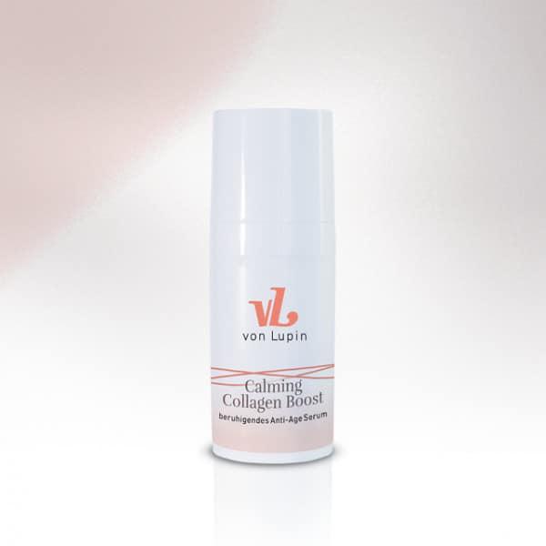 Calming Collagen Boost -beruhigendes Anti-Age Serum »   für   anspruchsvolle, reife Haut»mit Hyaluron, Tripeptid-8 und ITS-Peptiden»unterstützt die Collagen- und Elastinsynthese»mildert Linien, verbessert die Spannkraft