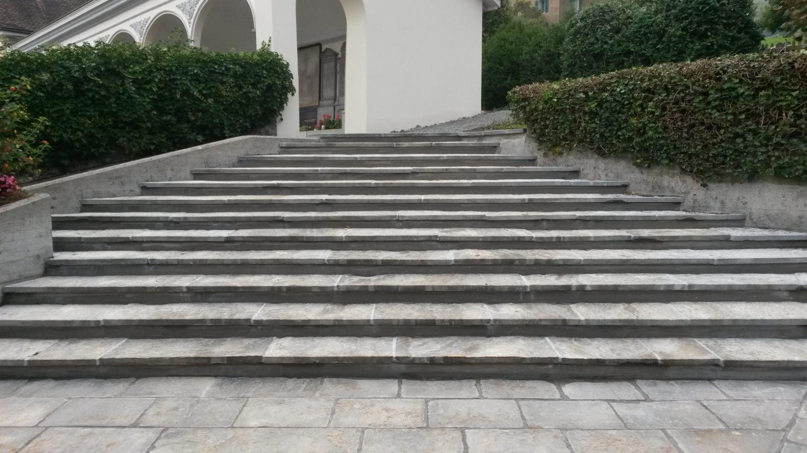 Treppensanierung Friedhof Stans