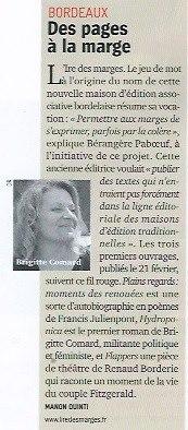 Lancement des éditions L'Ire des marges, février 2013