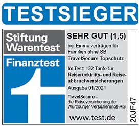 Logo Testsieger Travelsecure