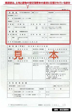 表題登記,東大阪,不動産,住家,すみか,sumika