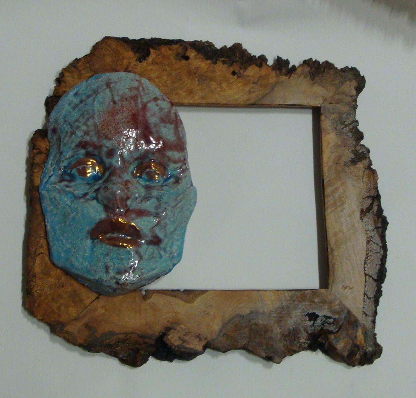 """ceramica tradizionale con lustro a terzo fuoco """"viso"""""""