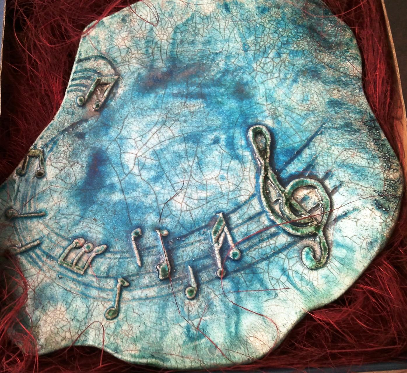 """ceramica raku turchese """"musica"""""""