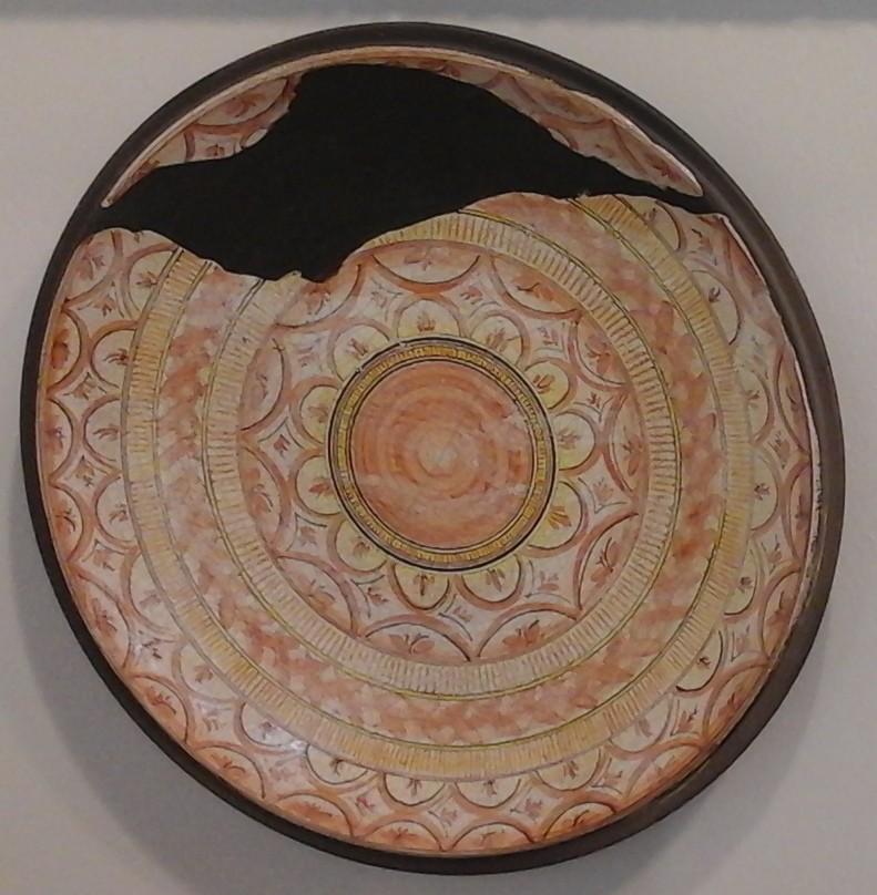 ceramica raku  con decorazione a imitazione,dimensione cm-50
