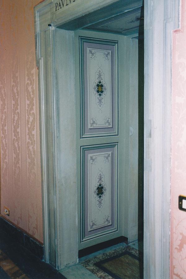 Riproduzione di decorazioni - Sala delle Dame - Palazzo Apostolico - Vaticano - Rosa Decorazioni.