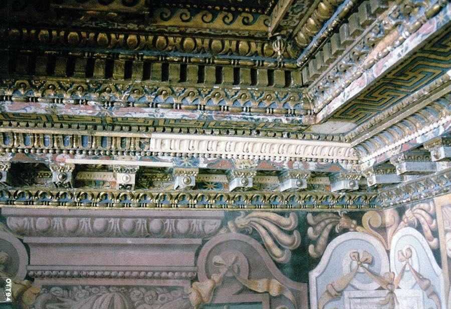 Restauro del soffitto ligneo della sala dei patti lateranensi del palazzo Lateranense a Roma eseguiti da Pietro Rosa dopo attentato del 27 luglio 1993 - Rosa Decorazioni.