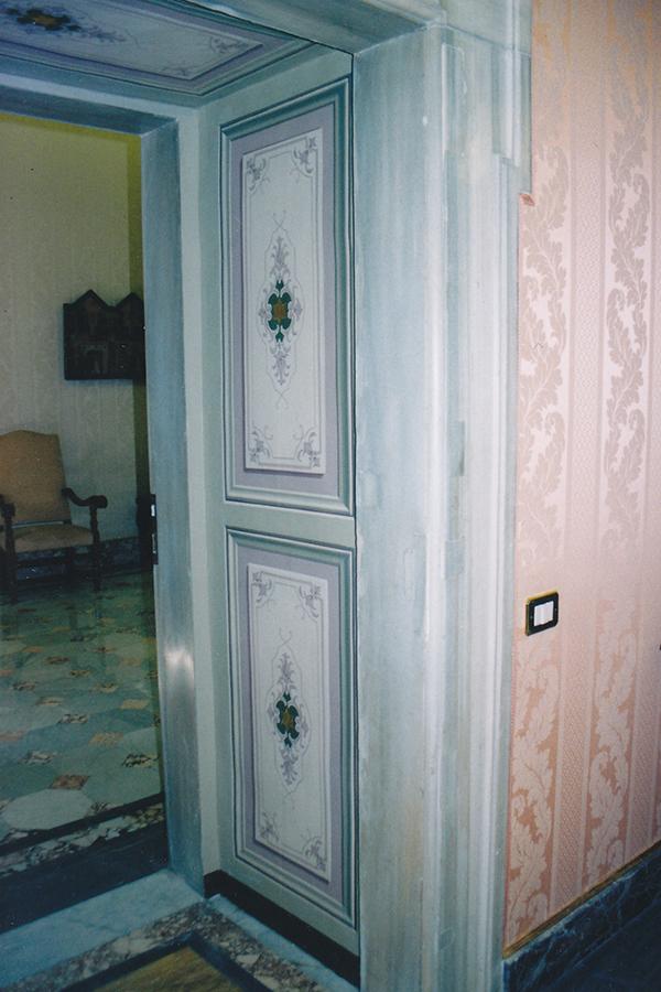 Riproduzione di decorazioni. - Sala delle Dame - Palazzo Apostolico - Vaticano. Rosa Decorazioni