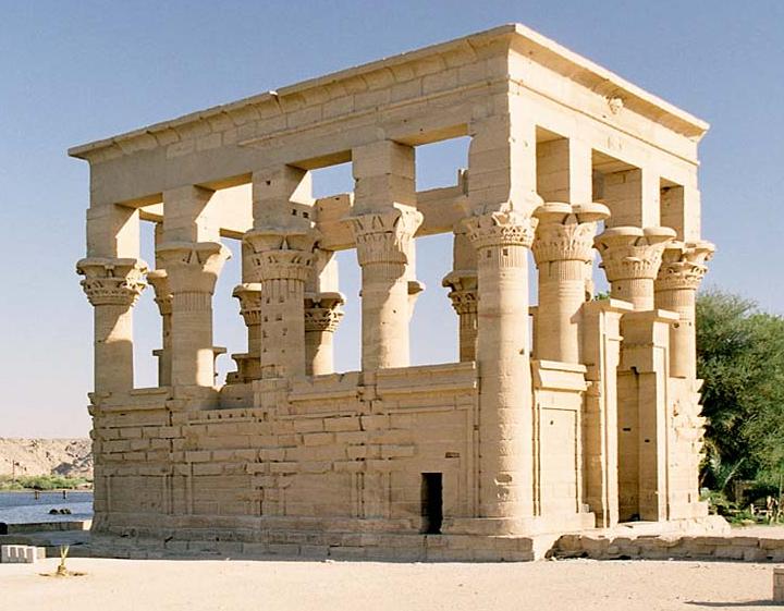 Philae, Trajan's Kiosk, Aswan, Ägypten WikiFree Okt 2004