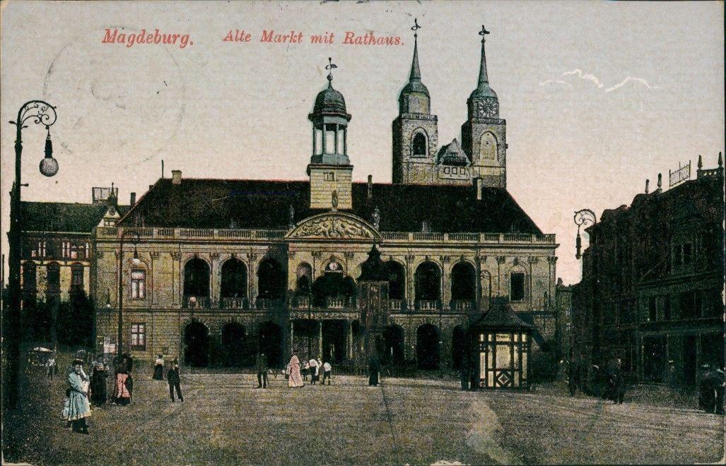 Ansichtskarte-Magdeburg-Alter-Markt-Kiosk-1915