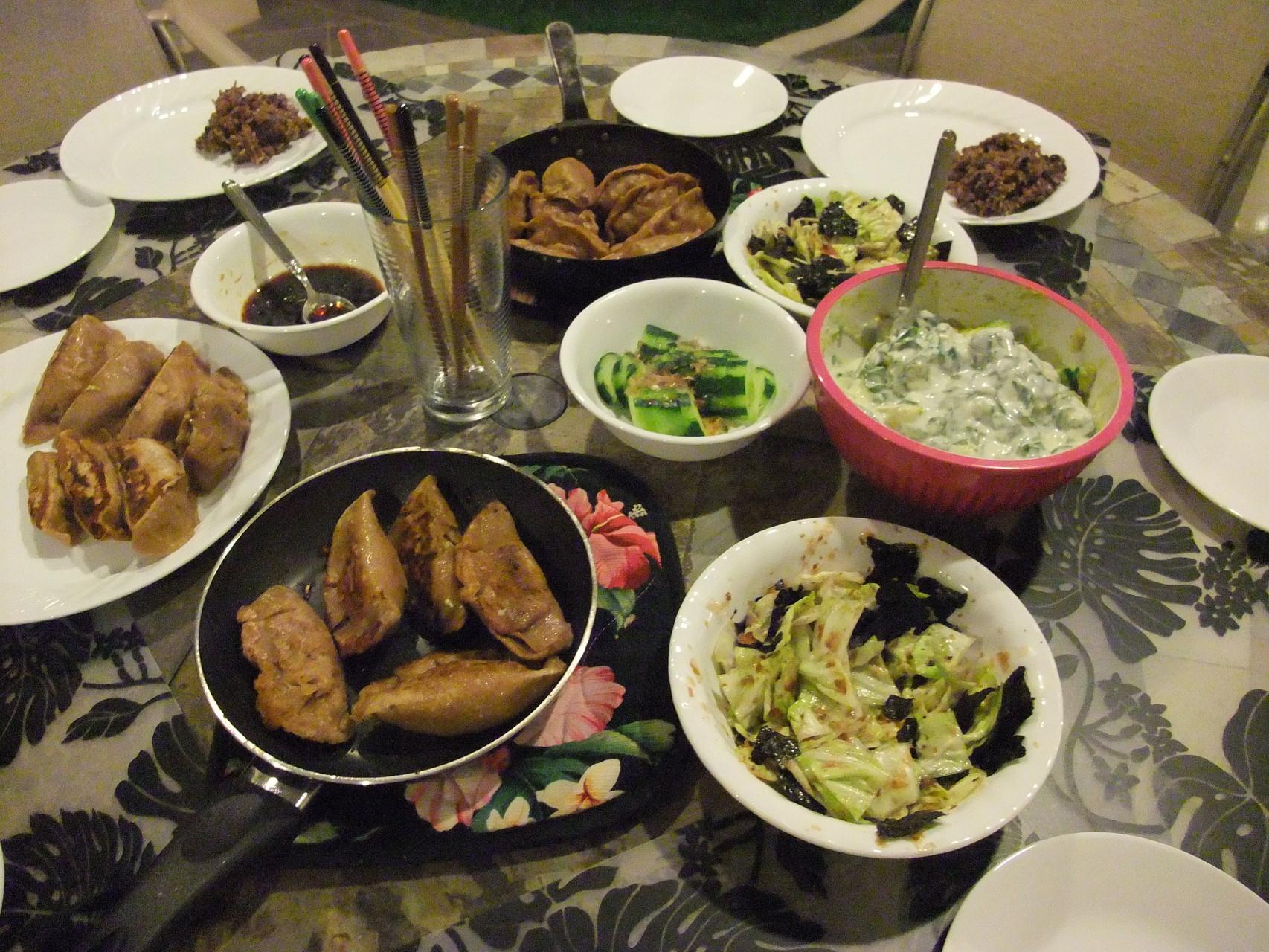 ハワイの地元オーガニック野菜たっぷりディナー