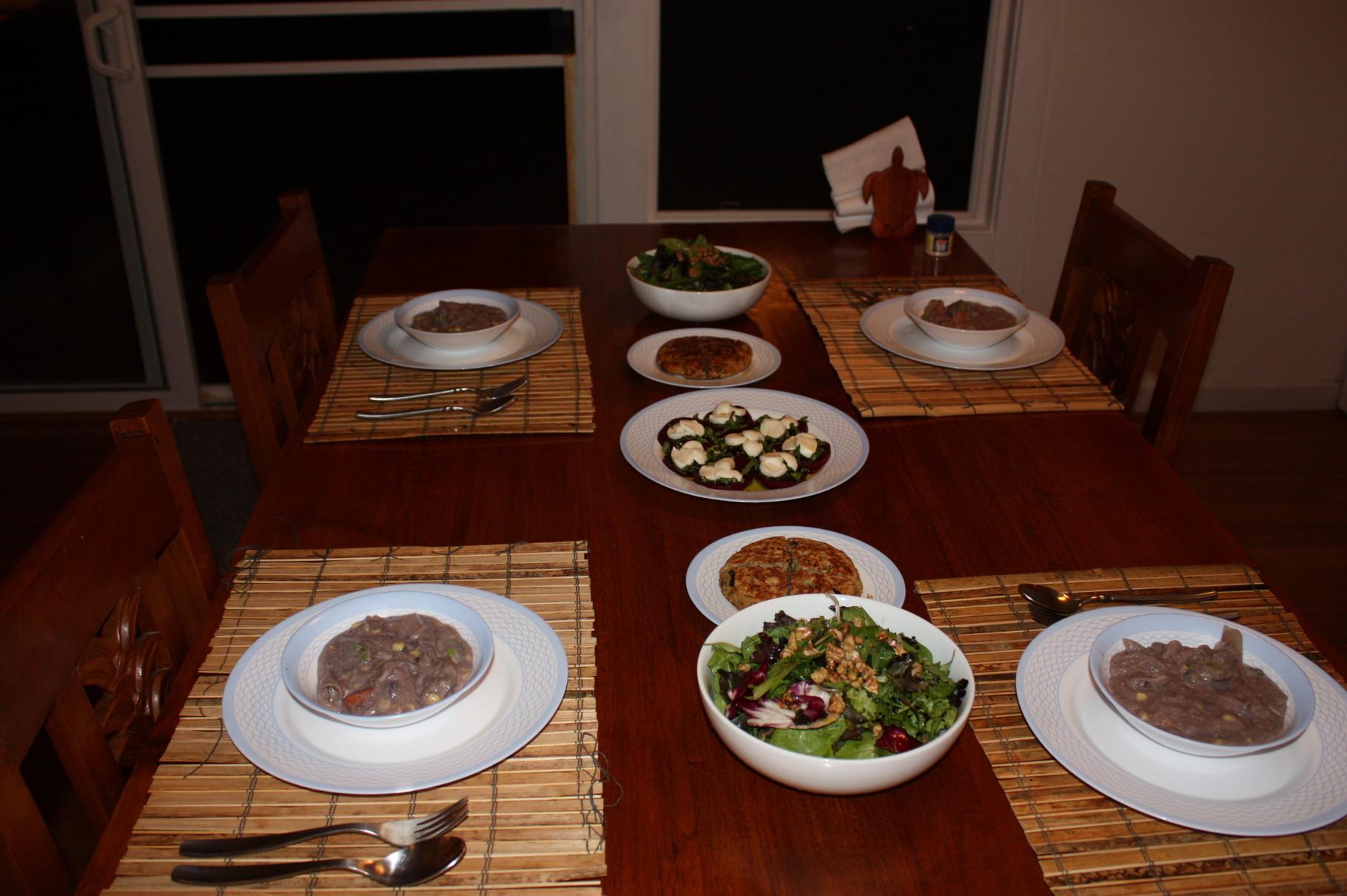 お野菜たっぷりオーガニック・ディナー