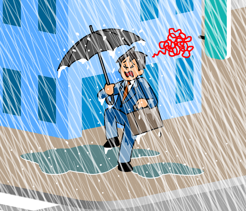 雨の強さと降り方について