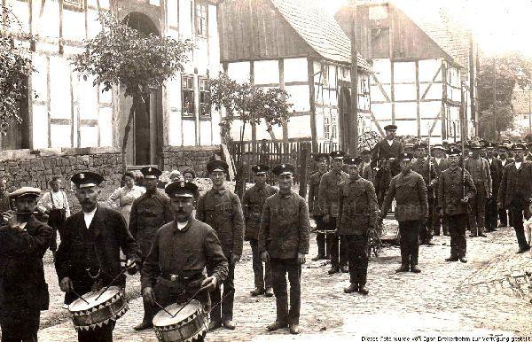 Umzug während des 1. Weltkriegs