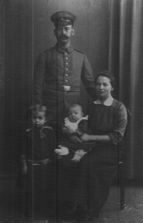 Soldat mit Familie