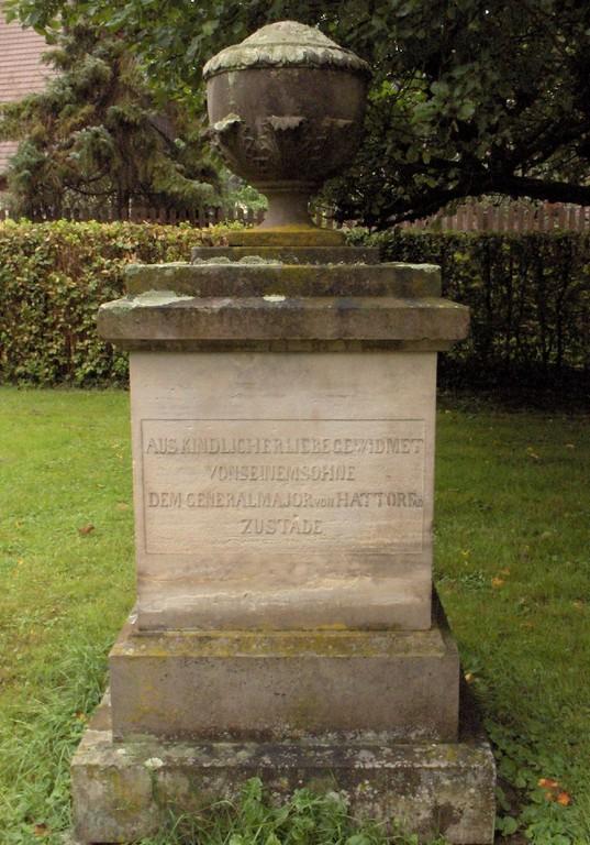 Gedenkstein hinter der Kirche