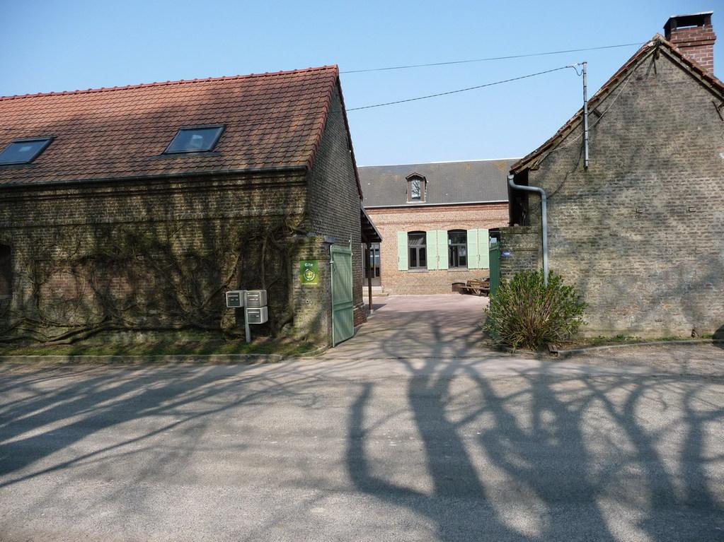 Entrée de la cour<Moulin de Boubert<Mons-Boubert<Baie de Somme<Somme<Picardie