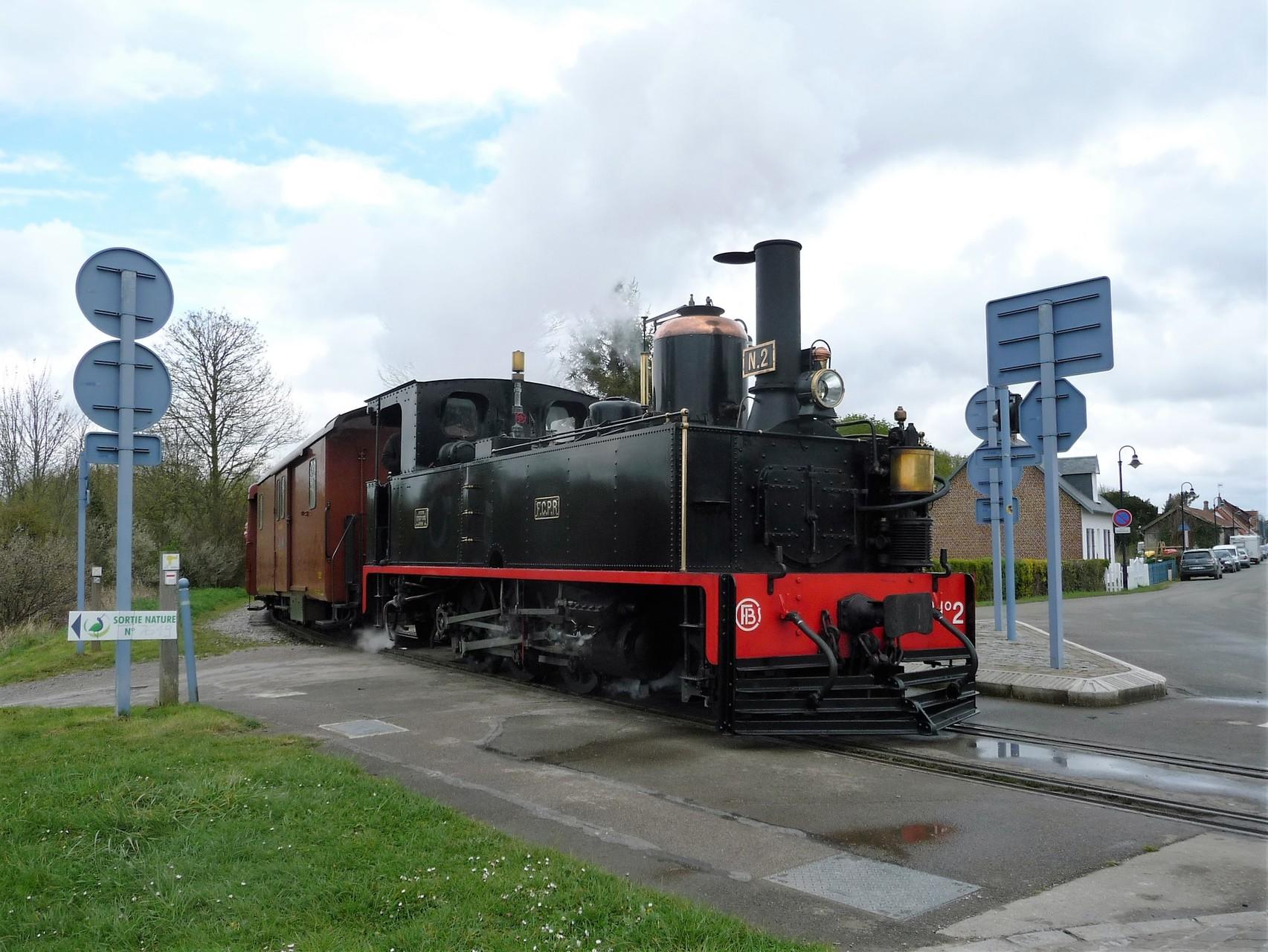 direction la gare de Saint-Valéry sur Somme