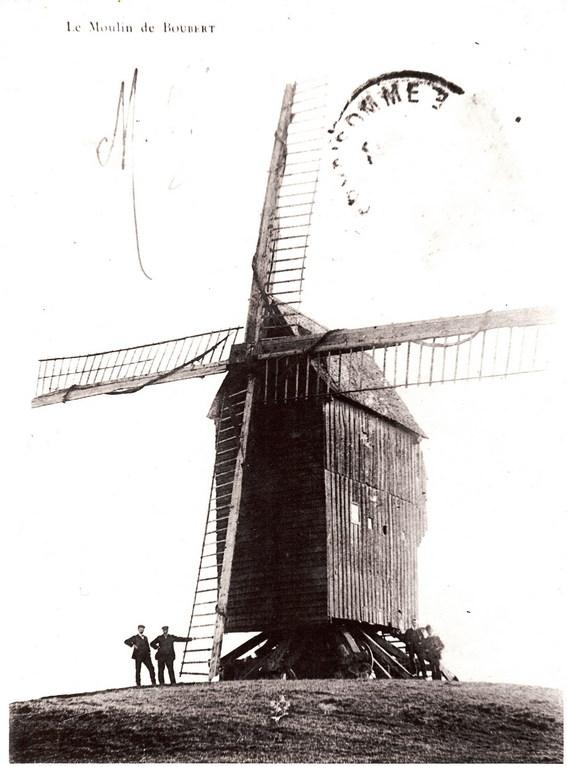Le moulin aujourd'hui disparu<Moulin de Boubert<Mons-Boubert<Baie de Somme<Somme<Picardie