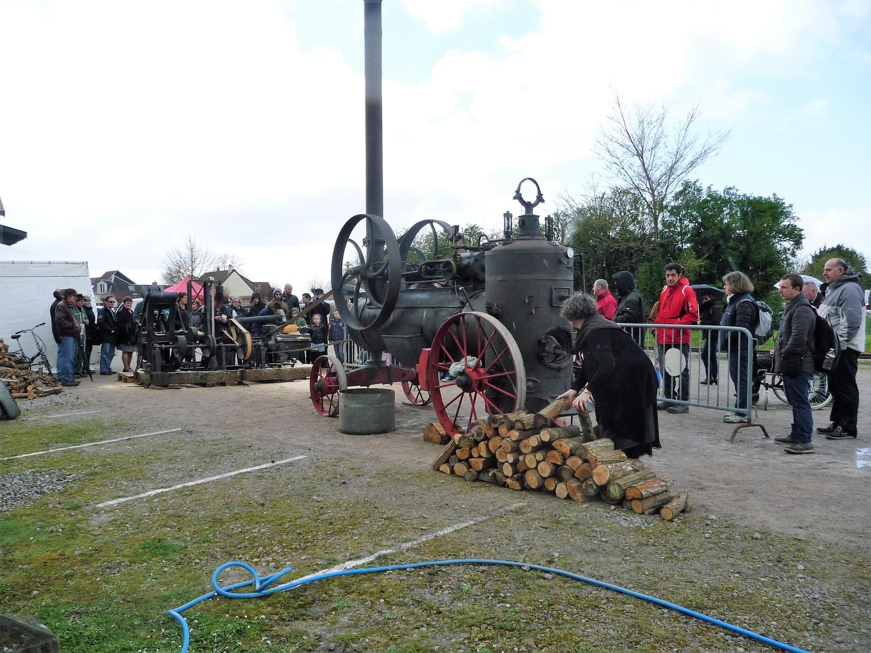 matériels anciens à vapeur : saboterie au Crotoy
