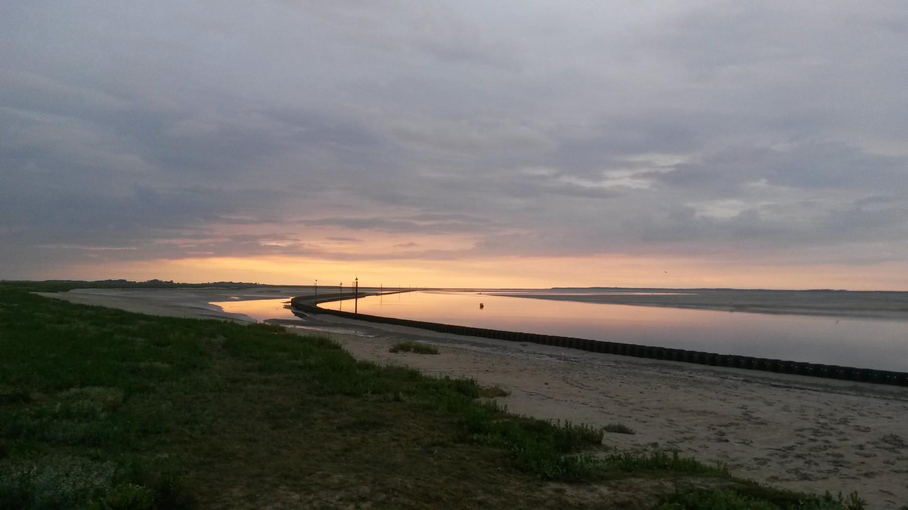 Coucher de soleil entre Saint-Valéry et Le Hourdel - Baie de Somme