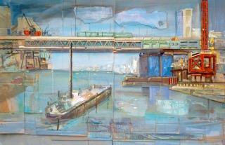 Dreirosenbrücke Basel 140x204 cm