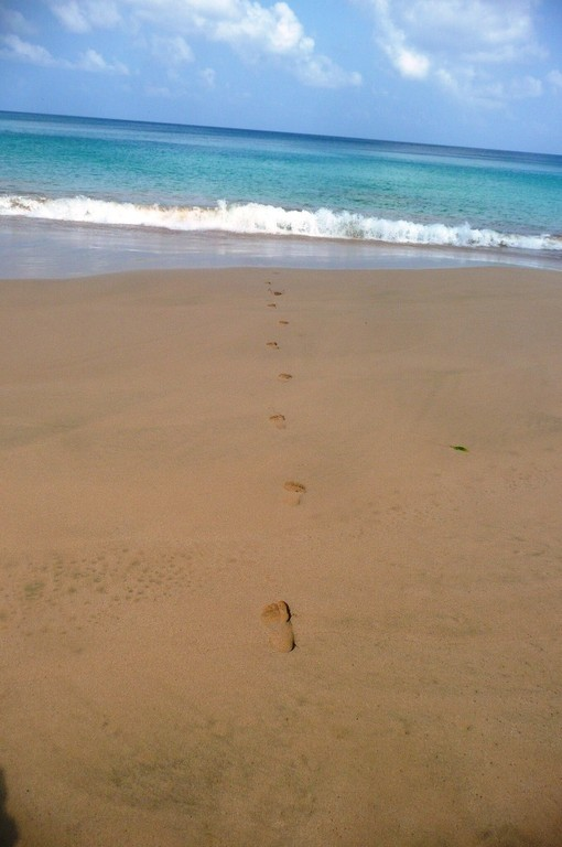 Footprints - as fragile as love... Baia do Sancho, 11.10.2010