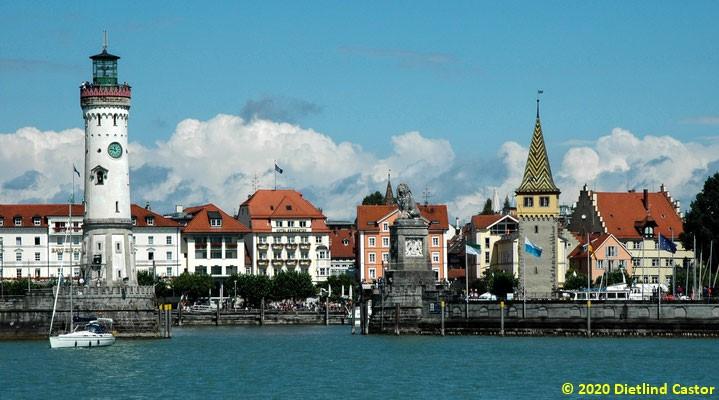 Lindau Hafeneinfahrt © 2020 Dietlind Castor